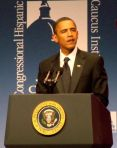 President Obama at the 2009 CHCI Awards Gala in Washington, DC.