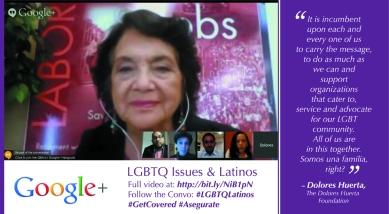 Dolores Huerta on LGBTQ Latinos