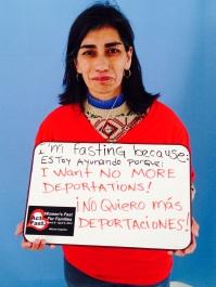 """Eva María Torres, DREAMERS Moms. """"¡Estoy ayunando porque no quiero más DEPORTACIONES!"""""""