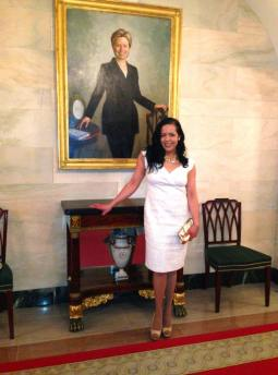 At the White House. Christmas 2013.
