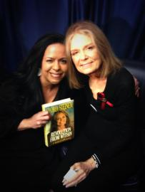 With Gloria Steinem. Novemebr 2013.