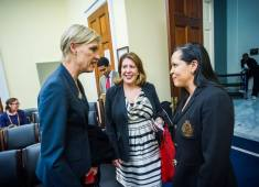 Cecile Richards, President of Planned Parenthood, and Vanessa Gonzalez-Plummoff.