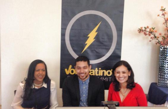 With Wilmer Valderrama and Maria Teresa Kumar at the 2014 Voto Latino Summit.