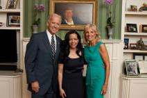 With Vicepresident Joe Biden and his wife, Dr. Jill Biden, at their home.