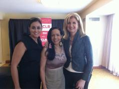 Arianna Huffington and Midy Aponte.