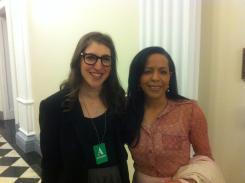 Big Bang Theory's Amy Farrah-Fowler (and my alter-ego): Mayim Bialik.