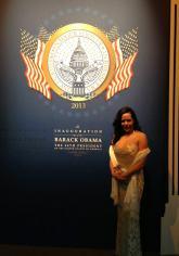 At President Barack Obama's second Inaugural Ball. January 2013