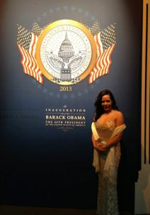 At President Barack Obama's second Inaugural Ball. January 2013