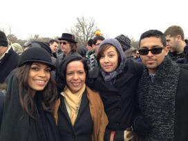 Rosario Dawson and Wilmer Valderrama at President Obama's Inauguration ceremony.