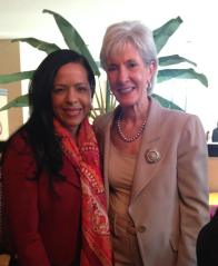 Former Secretary of Health and Human Services, Kathleen Sebelius.