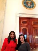 With Star Jones at the White House.