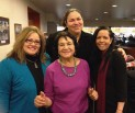 Dolores Huerta, Delia Garcia and Gaby Pacheco.