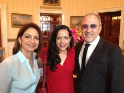 Latino legends Gloria and Emilio Estefan, at the White House. May 2014.