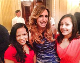Lily Estefan, at the White House. May 2014.