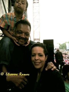 Civil rights activist and Baptist minister, Jesse Jackson.