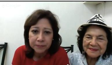 L-R: Dolores Huerta and Hilda Solis.