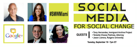 SM for Social Change Hangout