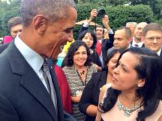 With President Barack Obama at Vice President Biden's residence, September 22, 2014
