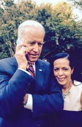 With Vice President Joe Biden as he chats with my daughter on the phone, at his residence, September 22, 2014