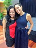 With actress/activist and all around cool gal Rosario Dawson
