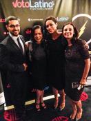 Wilmer Vlderrama, Rosario Dawson, Maria Teresa Kumar at the Voto Latino Power Summit